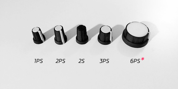 Rogan PT Series knobs 1PS 2PS 2S 3PS 6PS