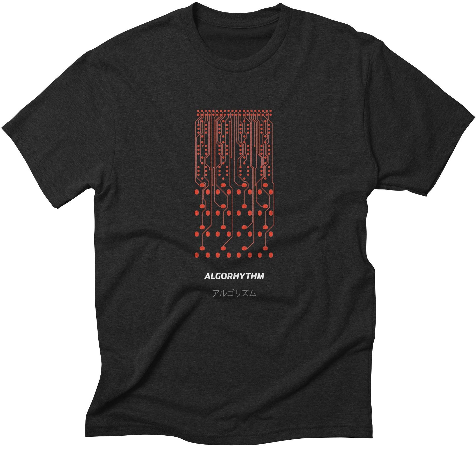 Grayscale modular synthesizer shirts